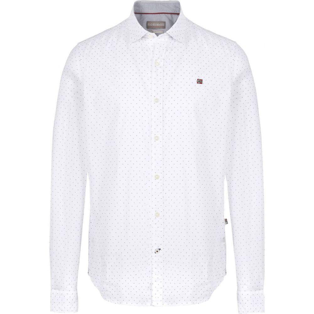 ナパピリ NAPAPIJRI メンズ シャツ トップス【patterned shirt】White