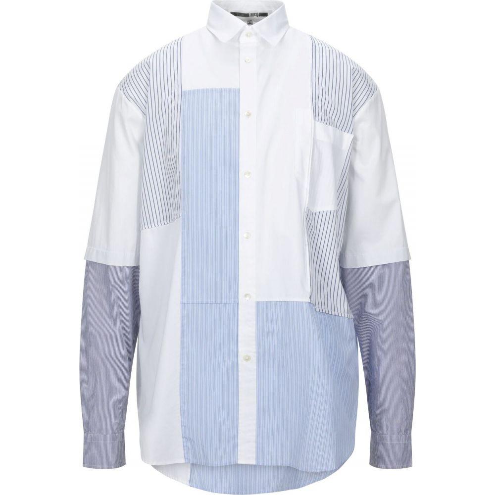 アレキサンダー マックイーン McQ Alexander McQueen メンズ シャツ トップス【striped shirt】White