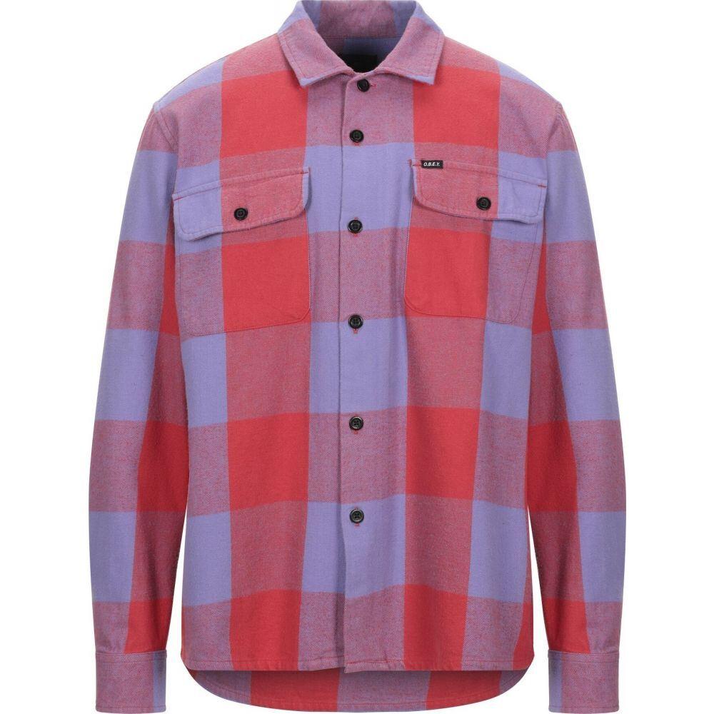 オベイ OBEY メンズ シャツ トップス【checked shirt】Red