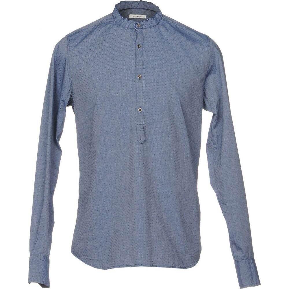 オフィチーナ トレンタ セイ OFFICINA 36 メンズ シャツ トップス【patterned shirt】Blue