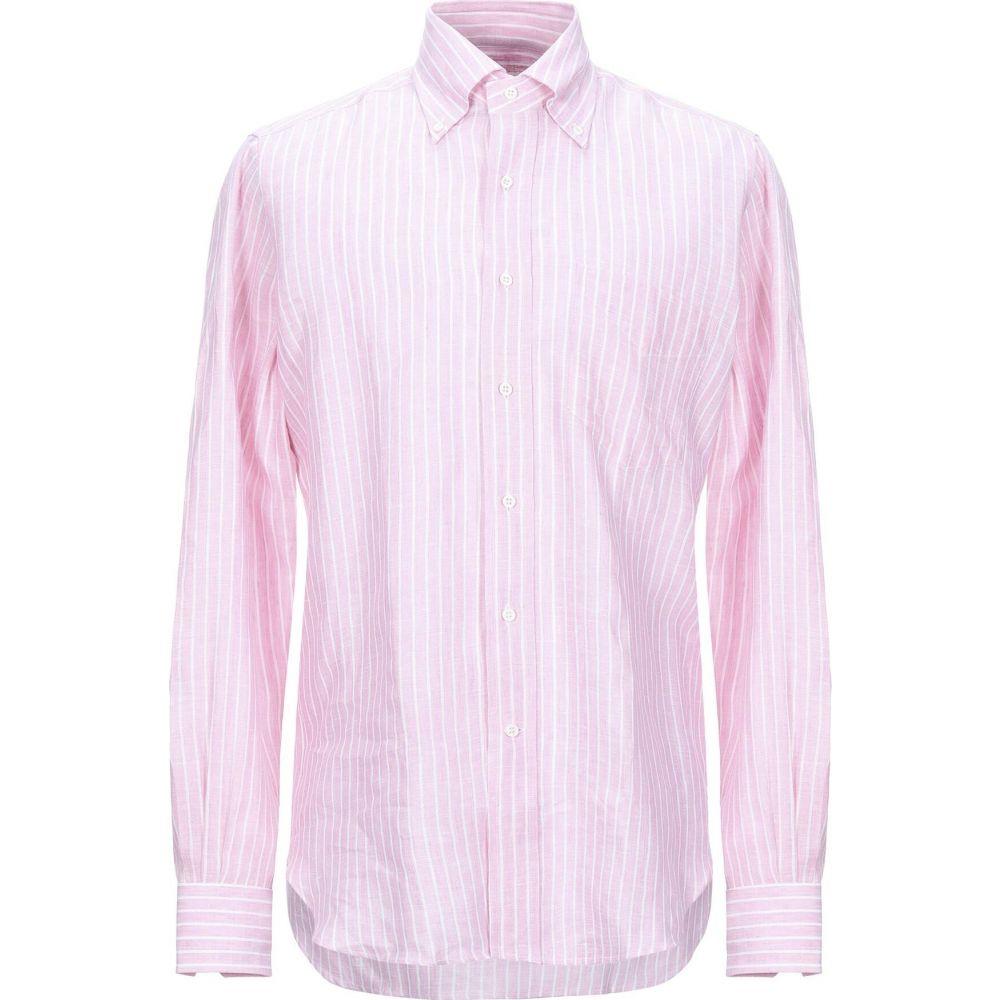 オリアン ORIAN メンズ シャツ トップス【linen shirt】Pink
