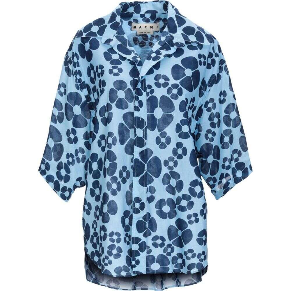 マルニ MARNI メンズ シャツ トップス【patterned shirt】Sky blue