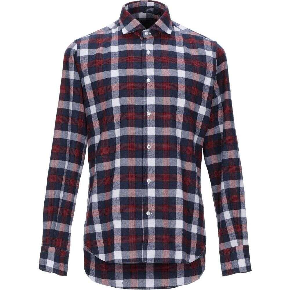 オリアン ORIAN メンズ シャツ トップス【checked shirt】Dark blue