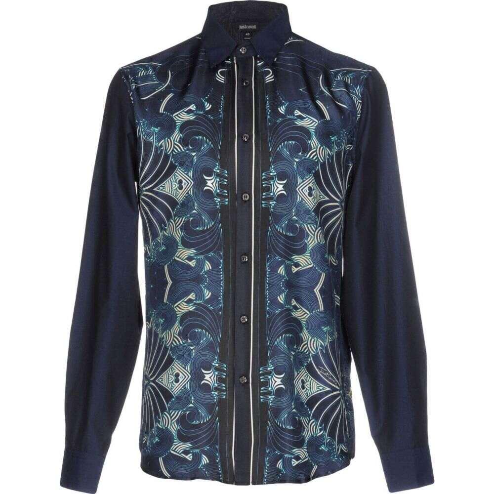 ジャスト カヴァリ JUST CAVALLI メンズ シャツ トップス【patterned shirt】Dark blue