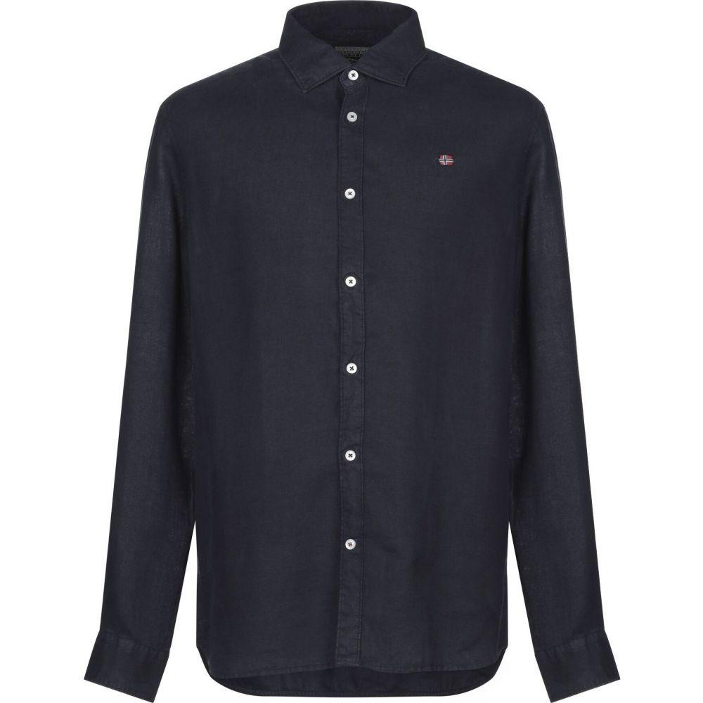 ナパピリ NAPAPIJRI メンズ シャツ トップス【linen shirt】Dark blue