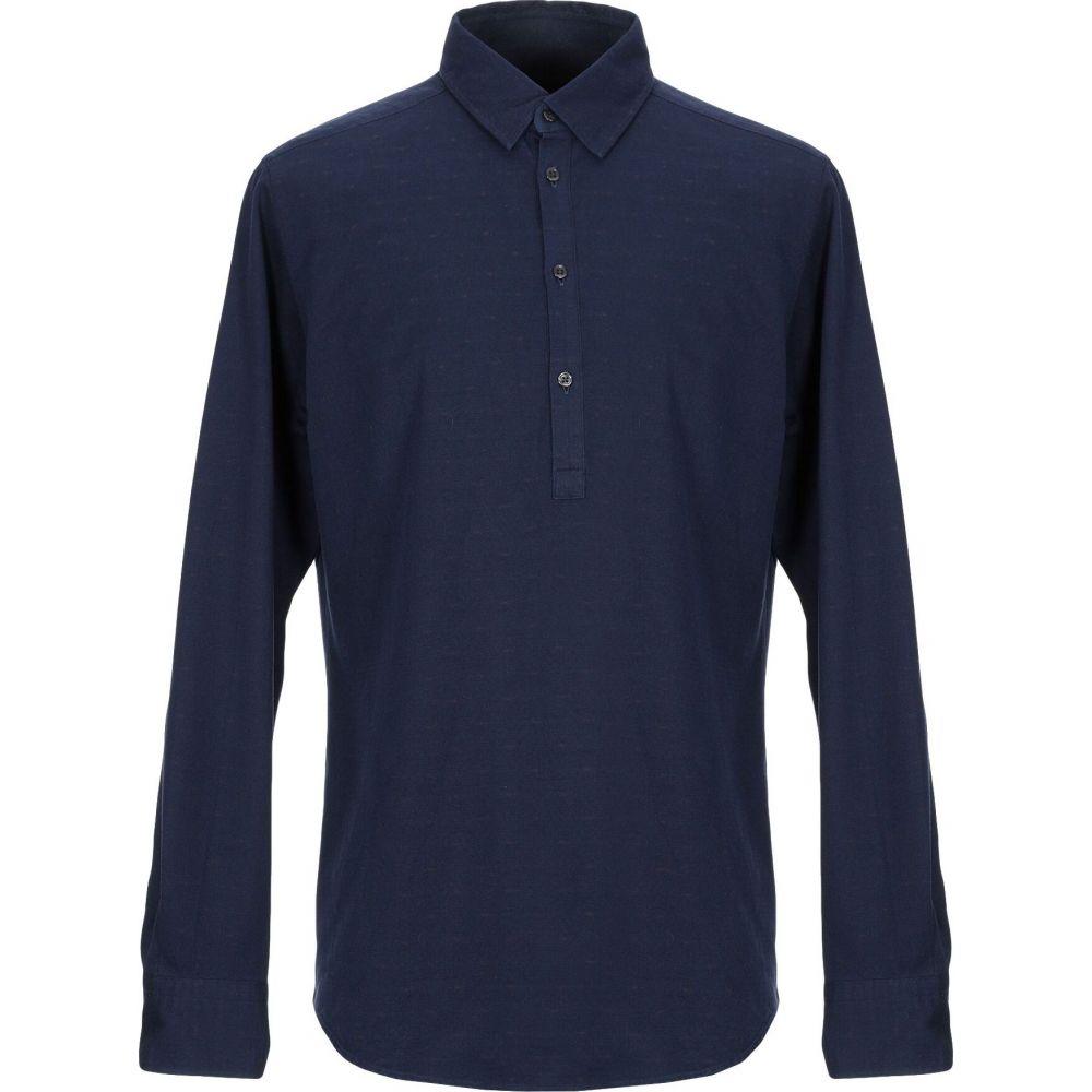 メッサジェリエ MESSAGERIE メンズ シャツ トップス【patterned shirt】Dark blue