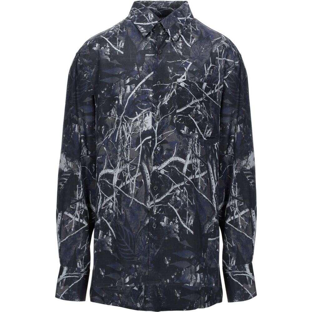 ランバン LANVIN メンズ シャツ トップス【patterned shirt】Dark blue