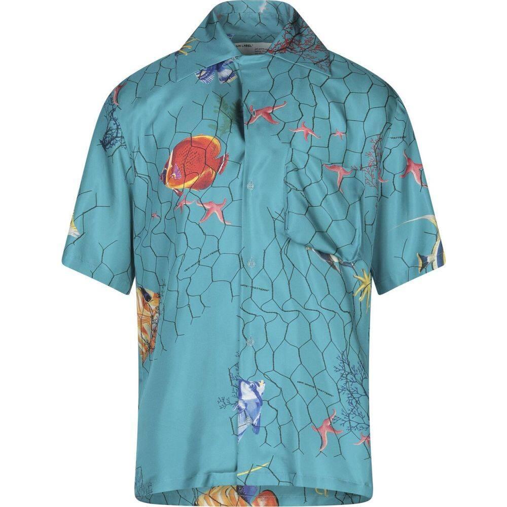 オフホワイト OFF-WHITE' メンズ シャツ トップス【patterned shirt】Turquoise