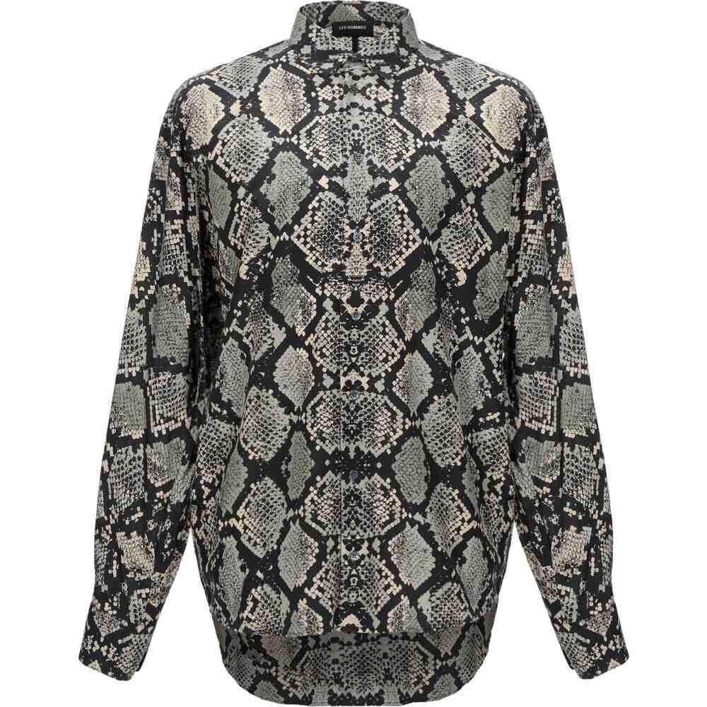 レゾム LES HOMMES メンズ シャツ トップス【patterned shirt】Black