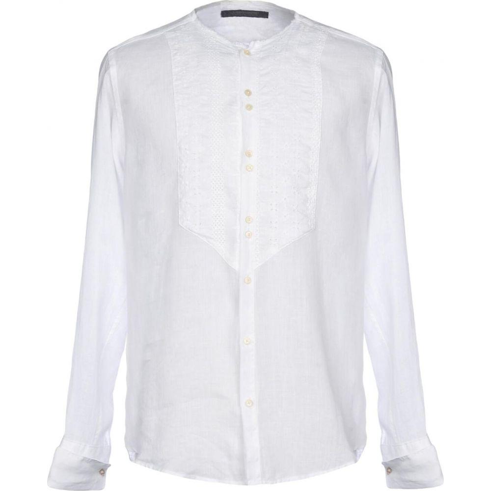 メッサジェリエ MESSAGERIE メンズ シャツ トップス【linen shirt】White