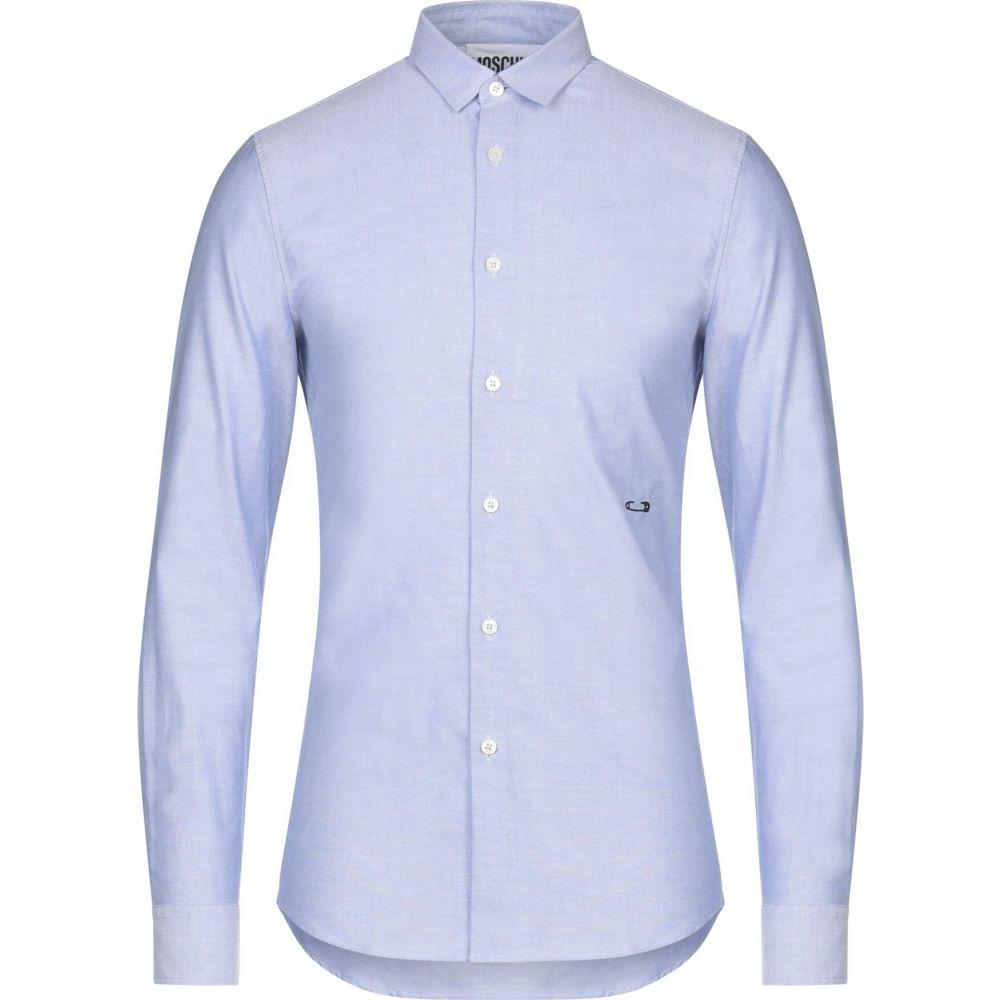 モスキーノ MOSCHINO メンズ シャツ トップス【patterned shirt】Sky blue