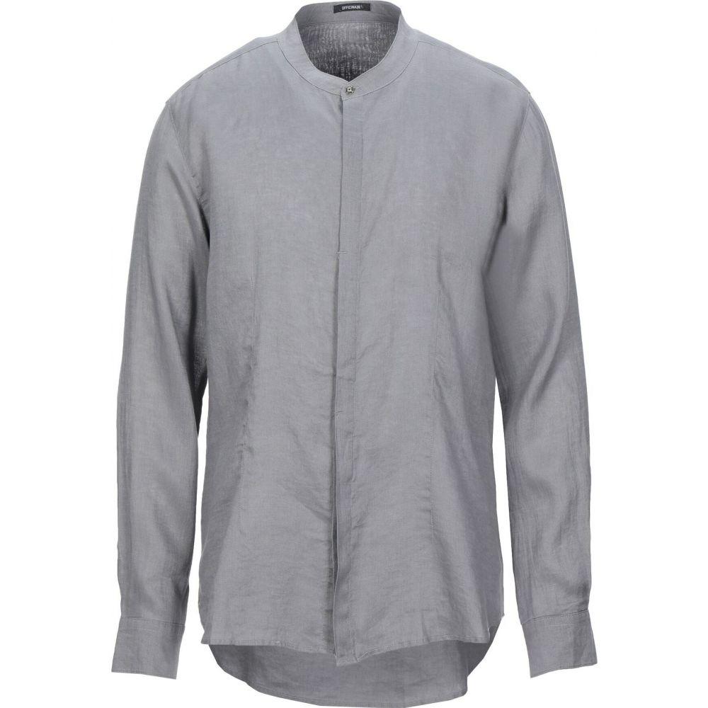 オフィチーナ トレンタ セイ OFFICINA 36 メンズ シャツ トップス【linen shirt】Grey