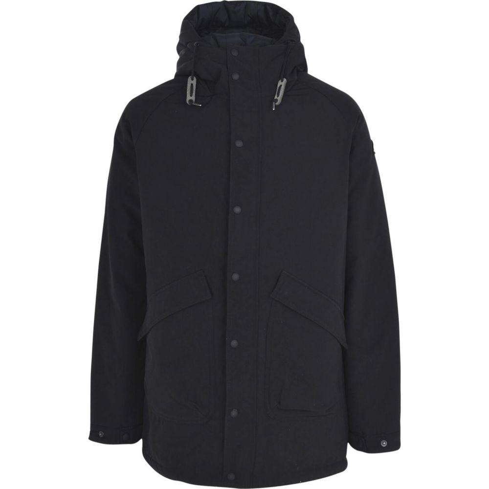 ペンフィールド PENFIELD メンズ コート アウター【kingman wadded fishtail parka full-length jacket】Black