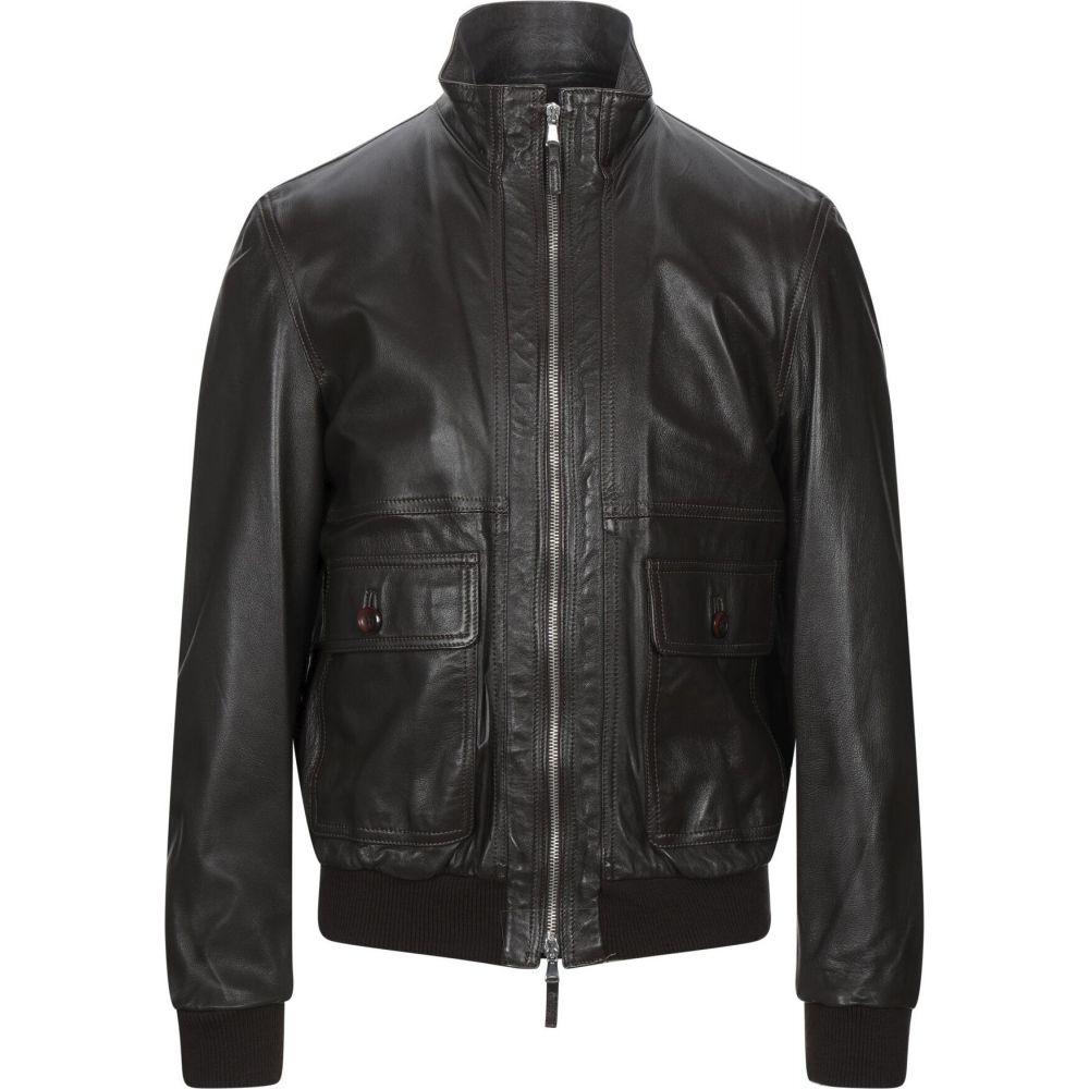 ベリー BRUNO VERRI メンズ ジャケット ライダース アウター【biker jacket】Dark brown