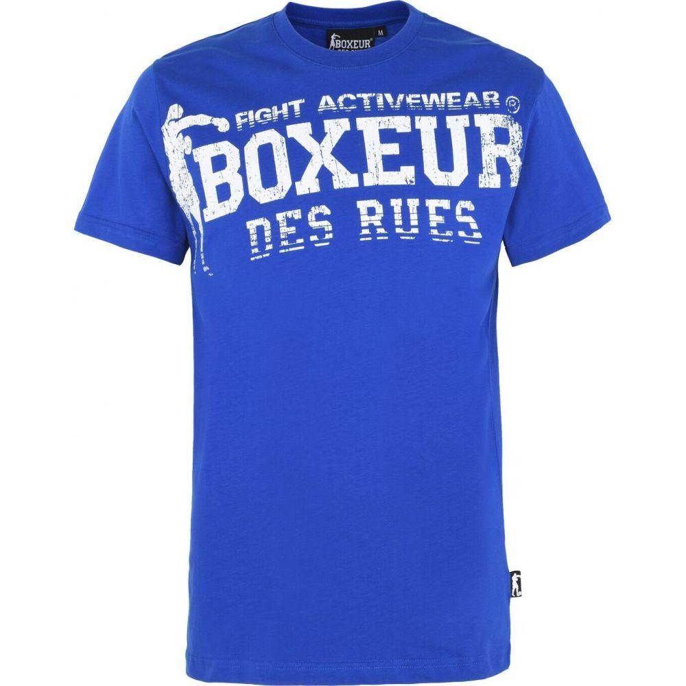ボクサー デ ルー BOXEUR DES RUES メンズ フィットネス・トレーニング トップス【training tshirt】Blue