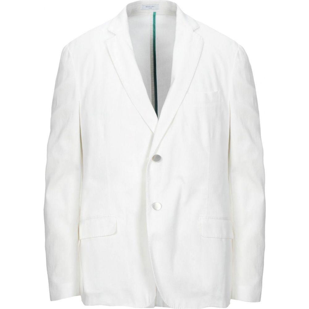 ボリオリ BOGLIOLI メンズ スーツ・ジャケット アウター【blazer】White
