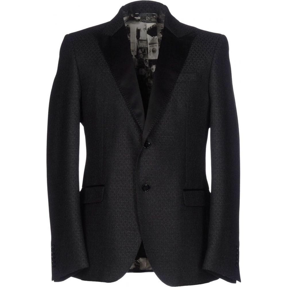 マニュエル リッツ MANUEL RITZ メンズ スーツ・ジャケット アウター【blazer】Steel grey