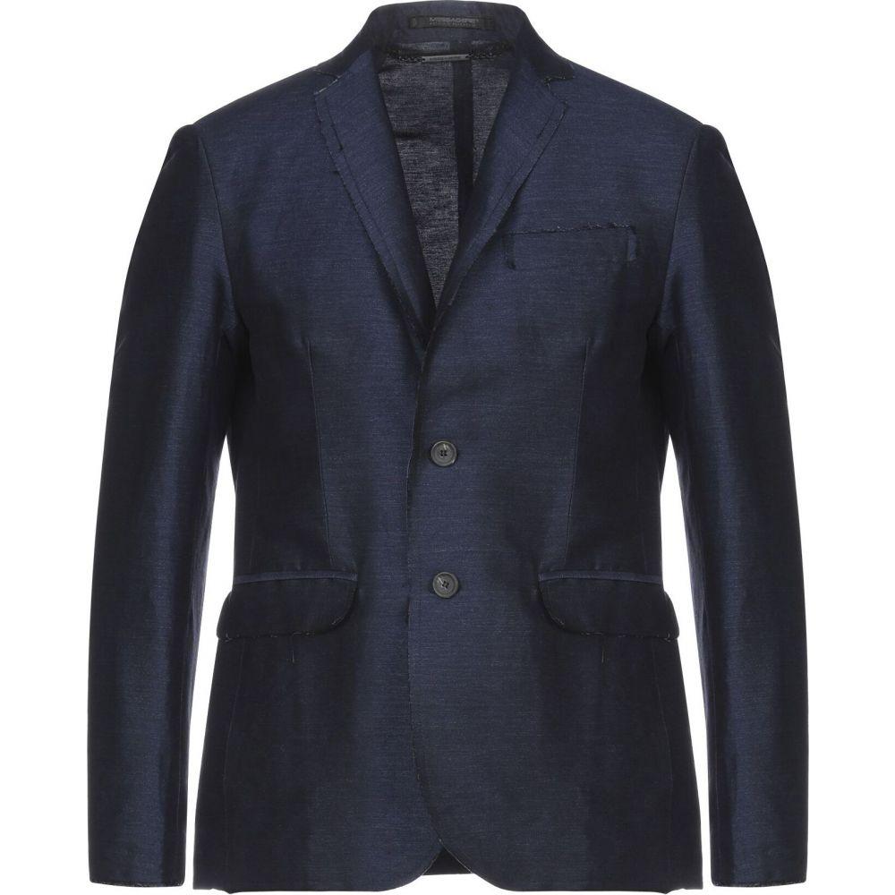 メッサジェリエ メンズ アウター スーツ ジャケット MESSAGERIE サイズ交換無料 感謝価格 Dark 価格交渉OK送料無料 blazer blue