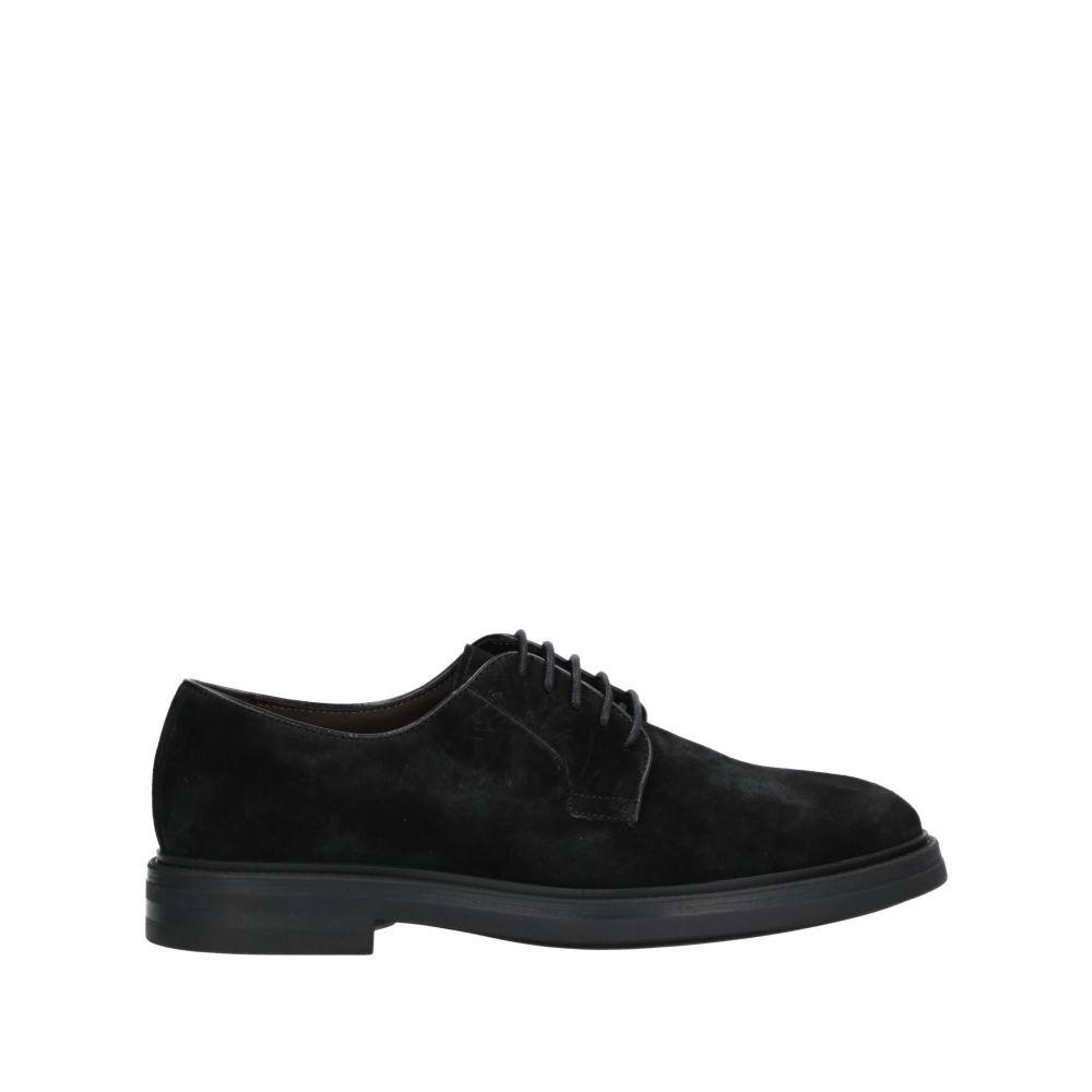 ア テストーニ A.TESTONI メンズ シューズ・靴 【laced shoes】Black