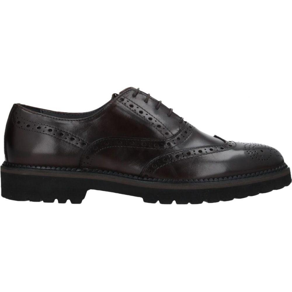ポリーニ POLLINI メンズ シューズ・靴 【laced shoes】Dark brown