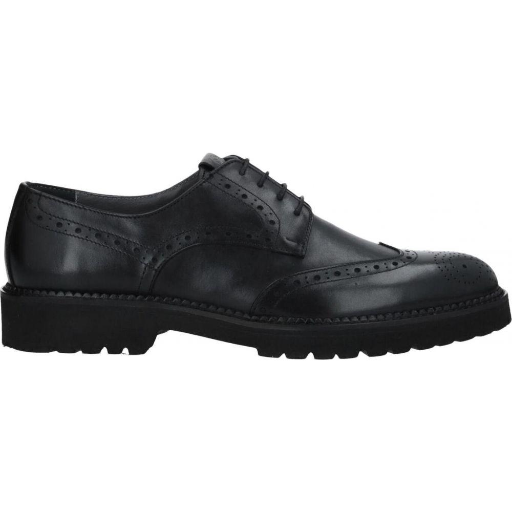 ポリーニ POLLINI メンズ シューズ・靴 【laced shoes】Black