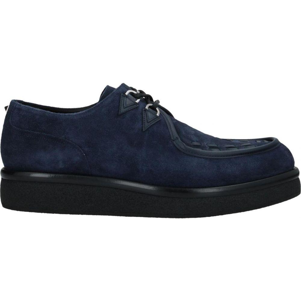ヴァレンティノ メンズ シューズ 日時指定 靴 その他シューズ Dark shoes サイズ交換無料 VALENTINO おすすめ特集 laced blue GARAVANI
