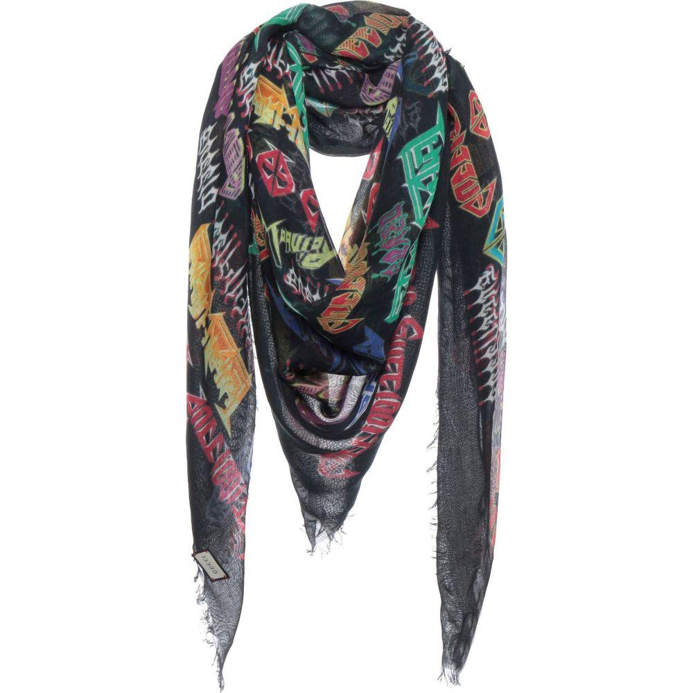 グッチ GUCCI メンズ マフラー・スカーフ・ストール 【square scarf】Black