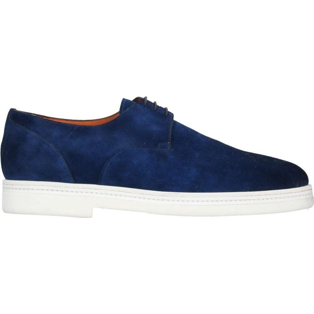 サントーニ SANTONI メンズ シューズ・靴 【laced shoes】Bright blue