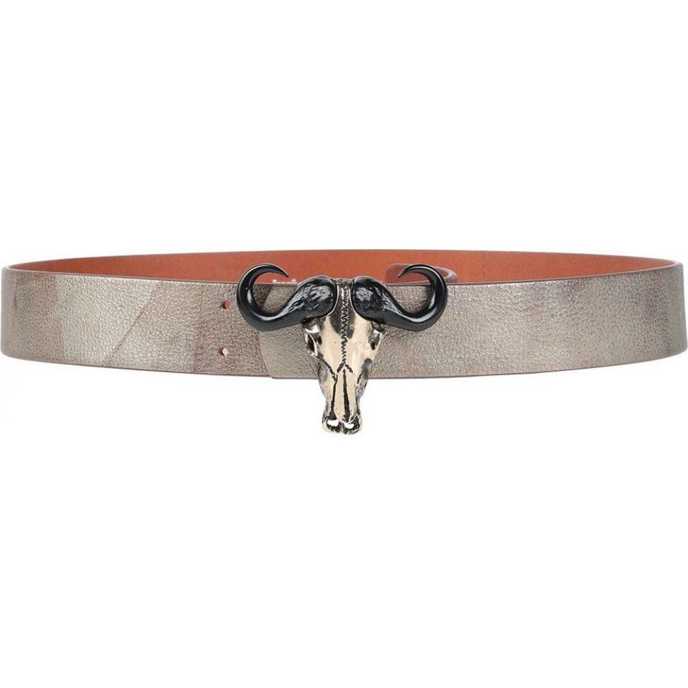 ジャスト カヴァリ JUST CAVALLI メンズ ベルト 【leather belt】Platinum