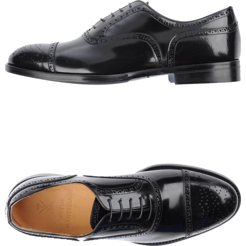 ストールマンテラッシ SUTOR MANTELLASSI メンズ シューズ・靴 【laced shoes】Black