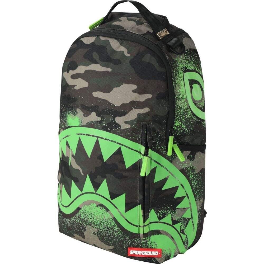 スプレイグラウンド メンズ バッグ その他バッグ Military green サイズ交換無料 SPRAYGROUND the camo glow in 定価の67%OFF 祝日 shark