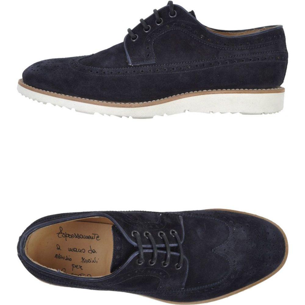 クラウディオ マリーニ CLAUDIO MARINI メンズ シューズ・靴 【laced shoes】Dark blue