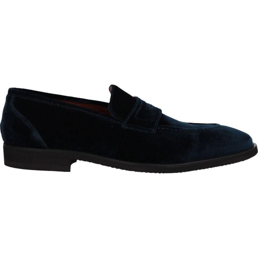 スティーブス メンズ シューズ デポー 靴 情熱セール ローファー Dark loafers STEVE'S blue サイズ交換無料