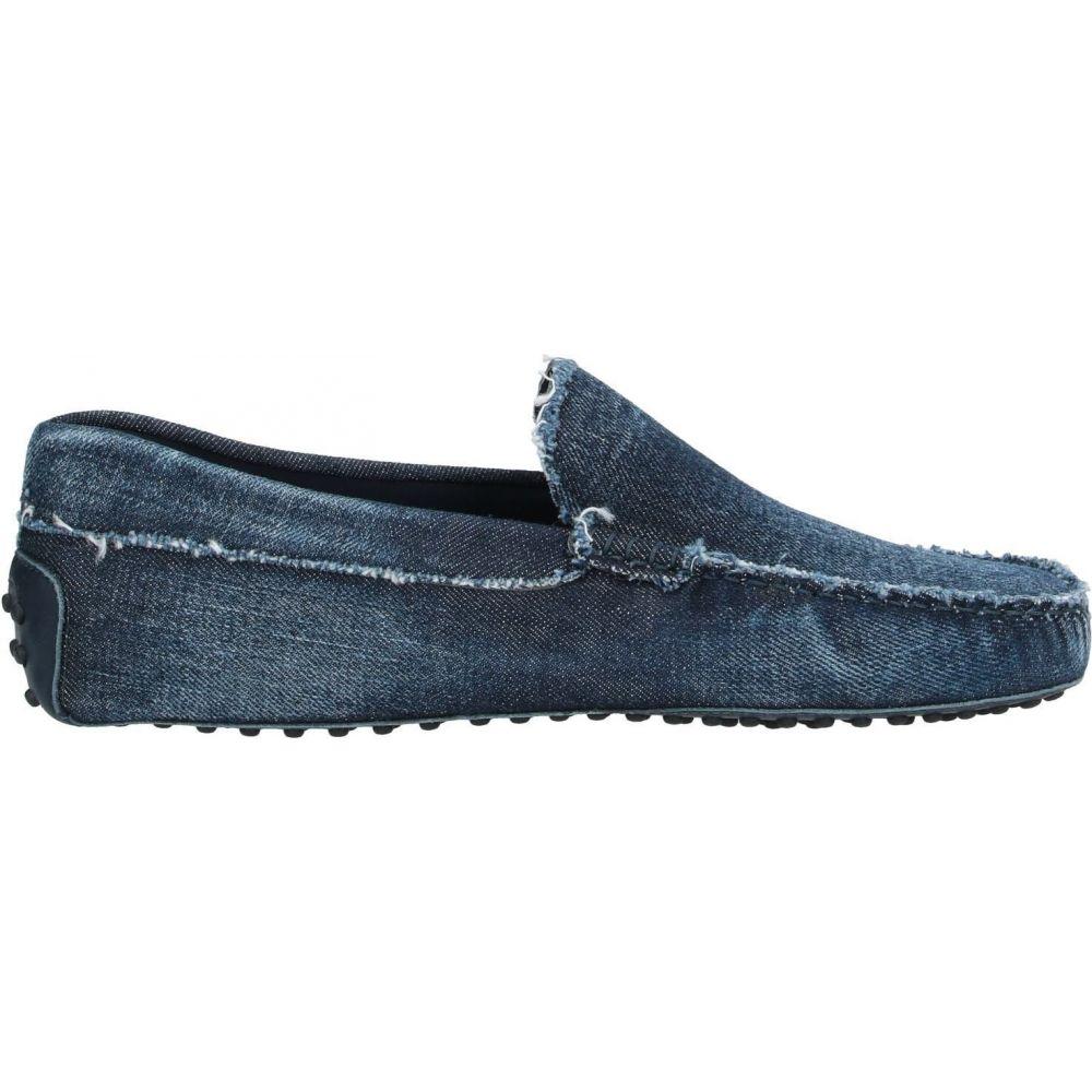 トッズ メンズ シューズ 靴 激安☆超特価 ローファー サイズ交換無料 loafers blue TOD'S Dark 大注目