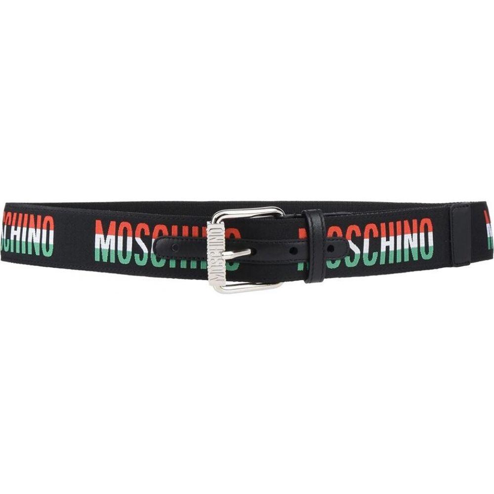 モスキーノ MOSCHINO メンズ ベルト 【fabric belt】Black