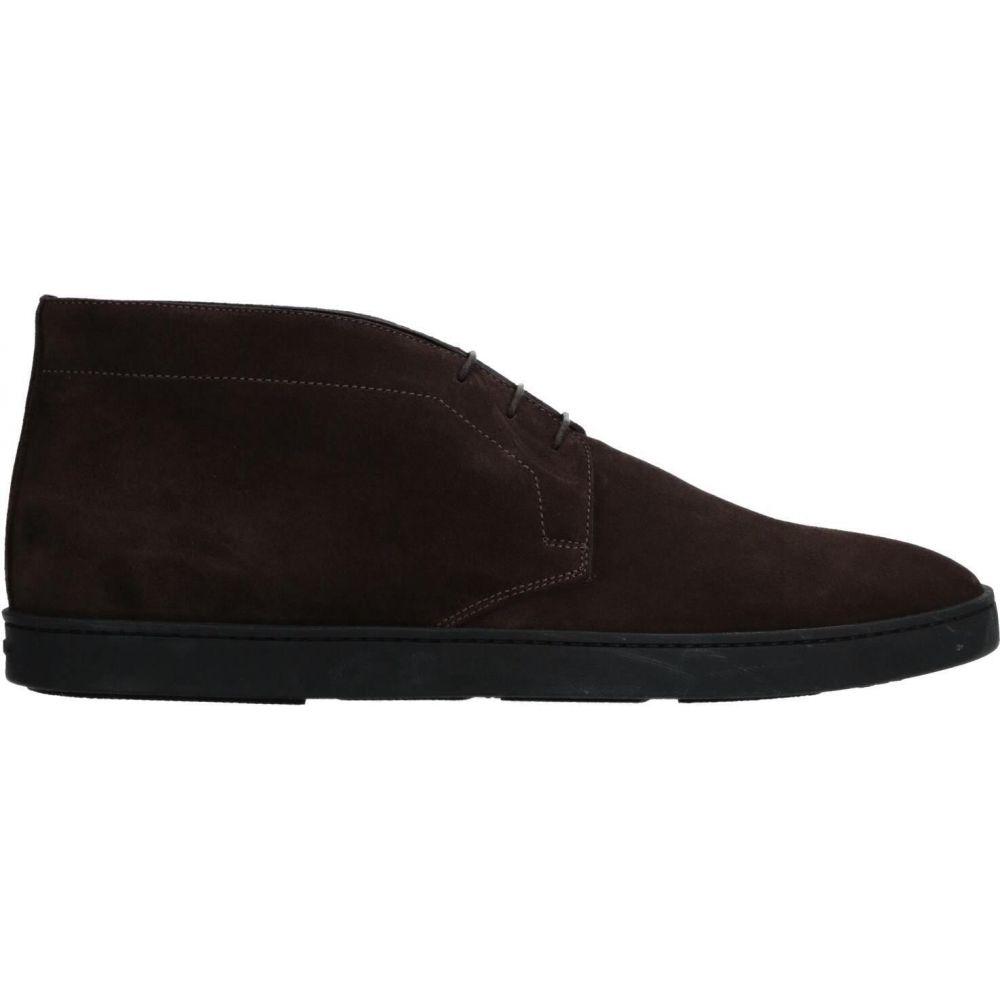 サントーニ brown ブーツ メンズ シューズ・靴【boots】Dark SANTONI