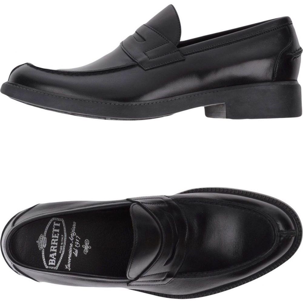 <title>バレット 新作販売 メンズ シューズ 靴 ローファー Black サイズ交換無料 BARRETT loafers</title>