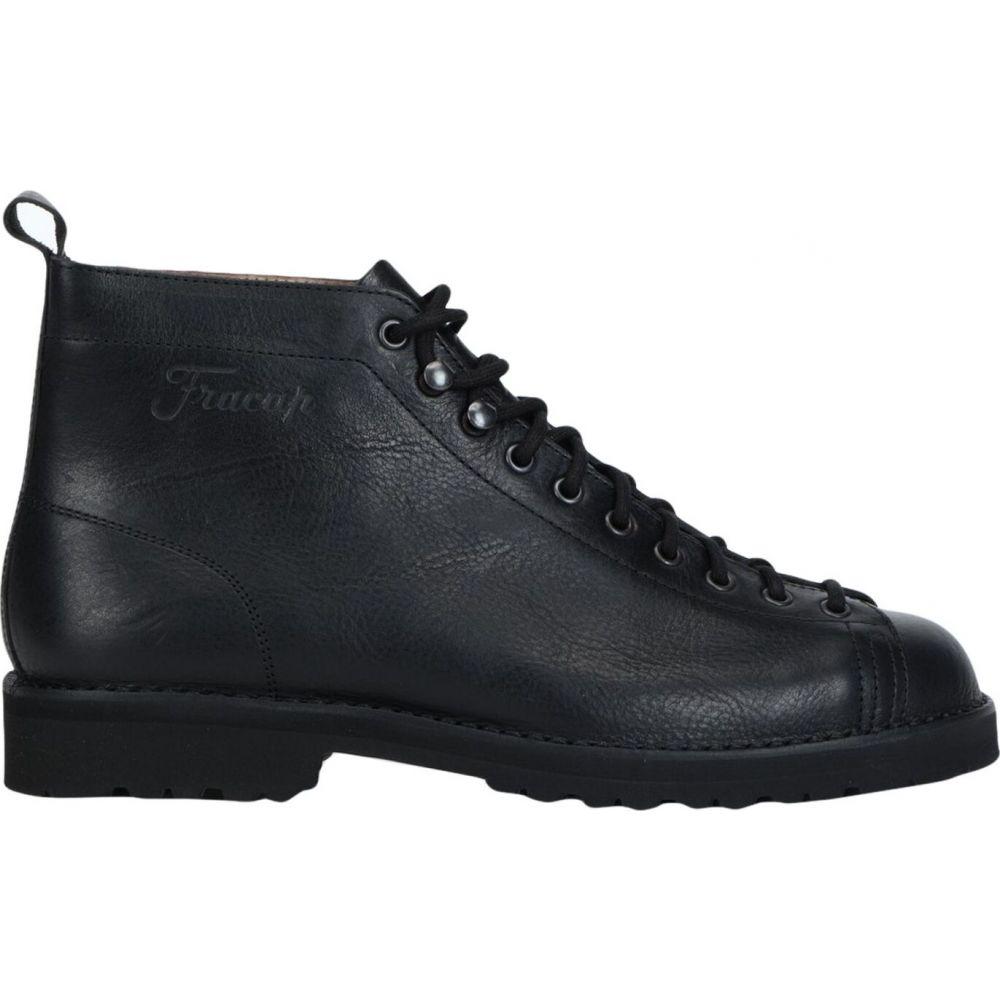 通信販売 フラカップ メンズ シューズ 高級な 靴 ブーツ FRACAP サイズ交換無料 Black boots