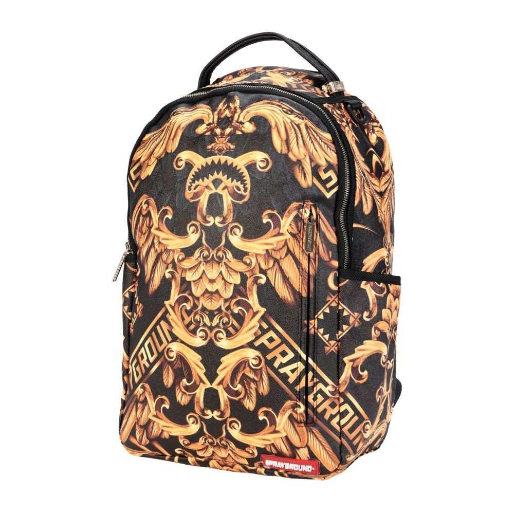 スプレイグラウンド SPRAYGROUND メンズ バックパック・リュック バッグ【palace of sharks backpack】Dark brown