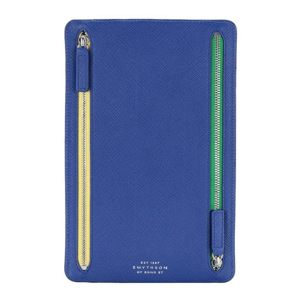 スマイソン SMYTHSON メンズ ビジネスバッグ・ブリーフケース バッグ【panama zip currency case document holder】Bright blue