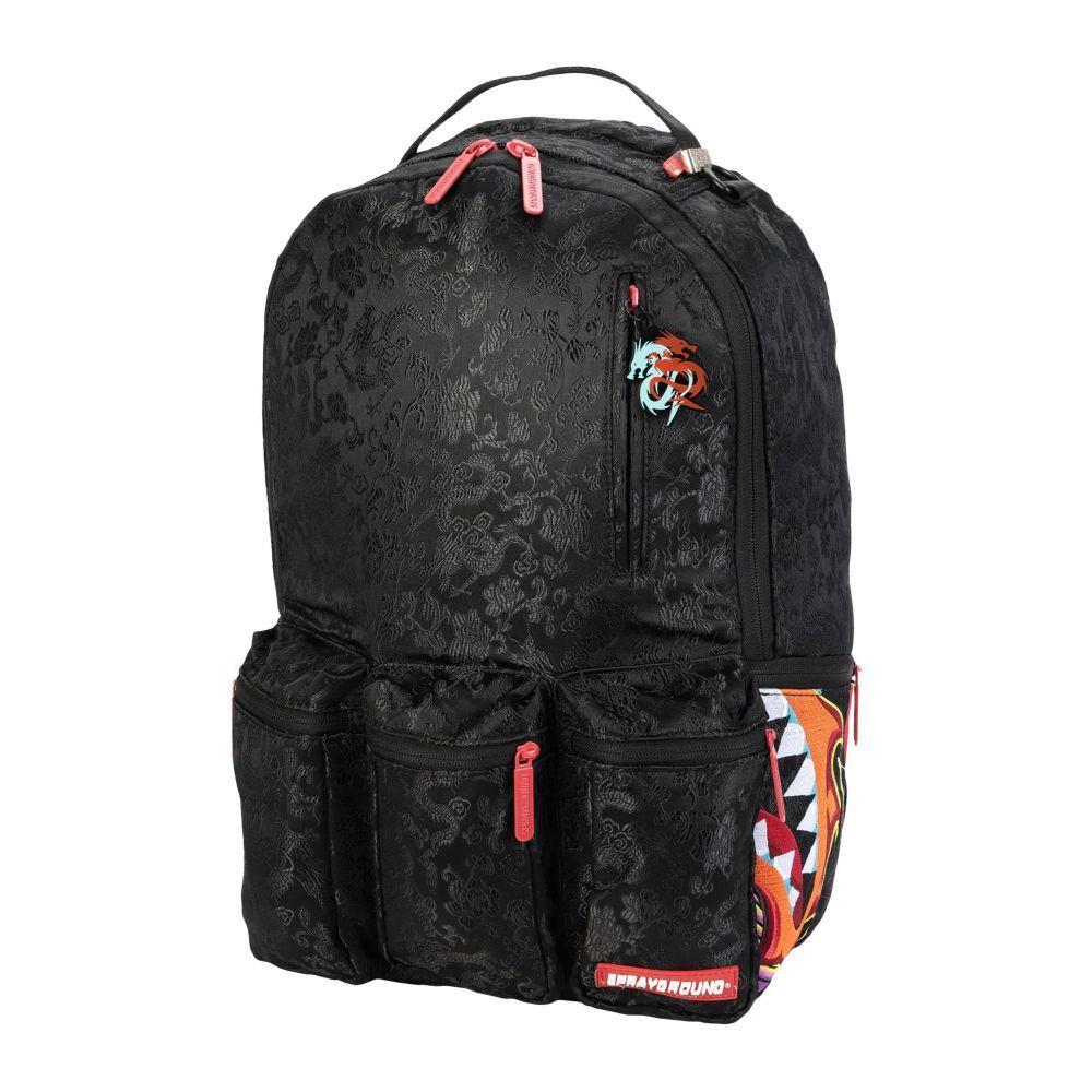 スプレイグラウンド SPRAYGROUND メンズ バックパック・リュック バッグ【dragon side shark nightmare cargo backpack】Black