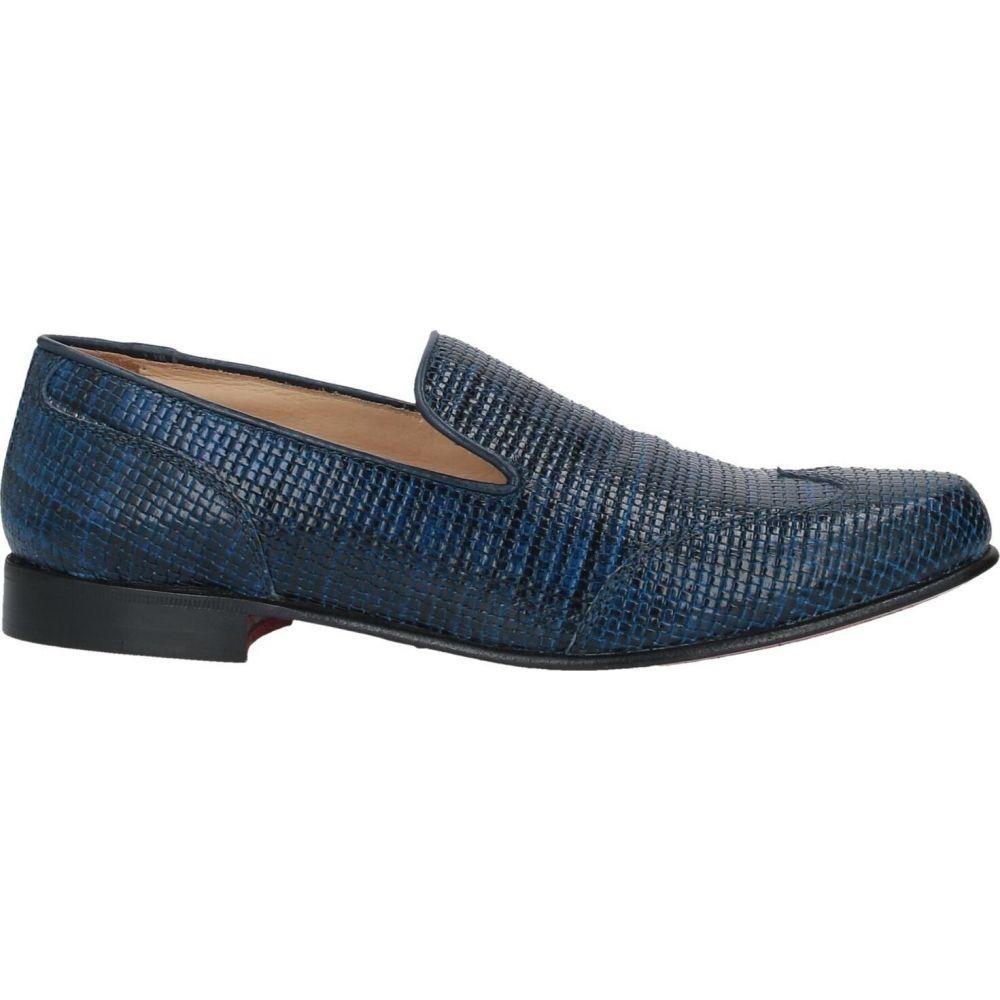 ゴールドブラザーズ メンズ シューズ 靴 ローファー Dark Loafers 高価値 サイズ交換無料 引き出物 BROTHERS GOLD blue
