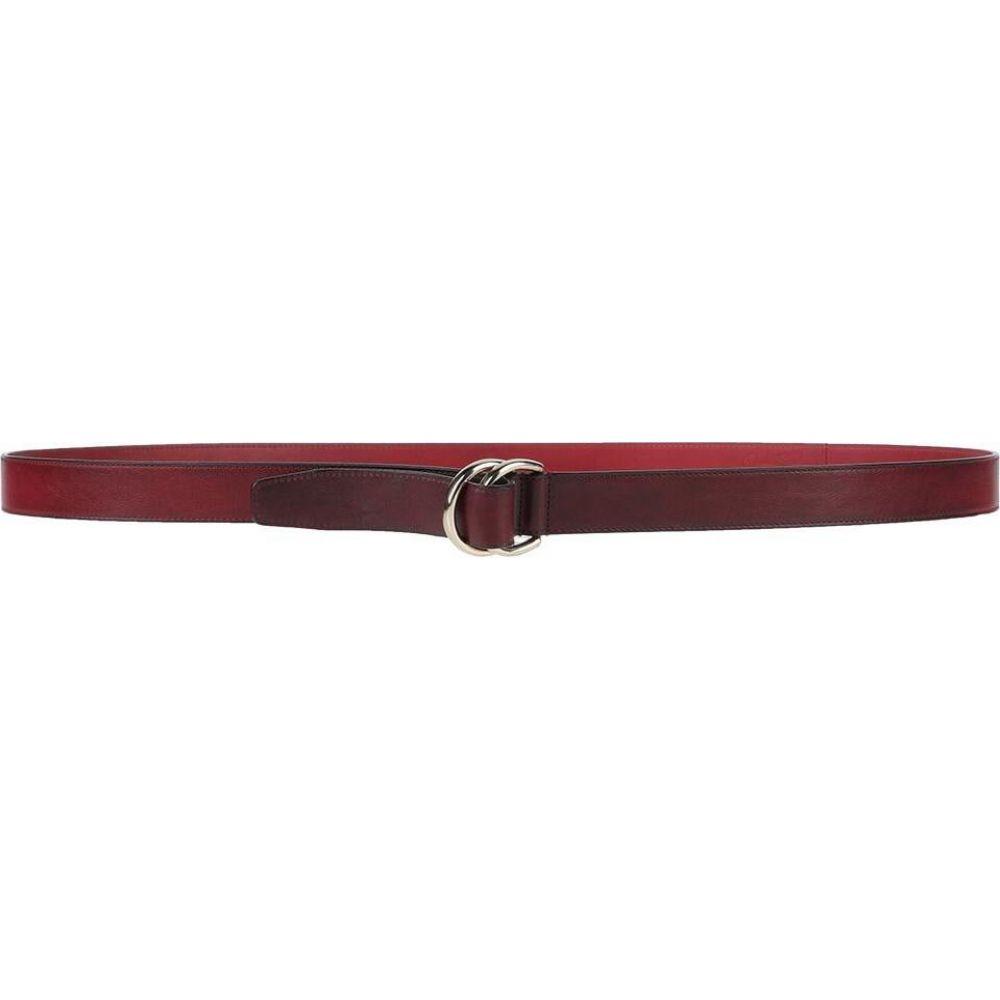 品質満点 サントーニ SANTONI メンズ ベルト 【Leather Belt】Maroon, マタニティ&ベビーのStampskids df3827a6