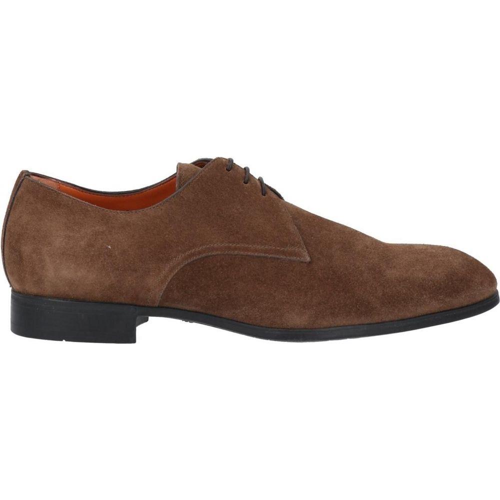 サントーニ メンズ シューズ 靴 受注生産品 その他シューズ laced SANTONI サイズ交換無料 Brown shoes 人気ブランド