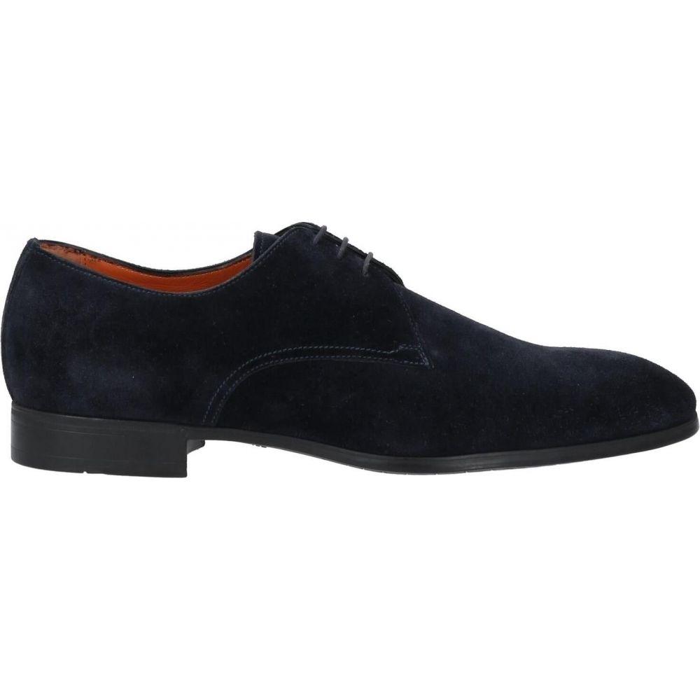 サントーニ メンズ シューズ 靴 超歓迎された その他シューズ Dark laced shoes blue 大特価 SANTONI サイズ交換無料