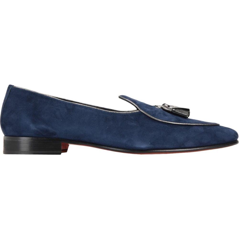色々な オット バイ ユークス 8 by YOOX メンズ スリッパ シューズ・靴【suede tassel slipper】Dark blue, クロスリンク&リサーチ 75e0dedd