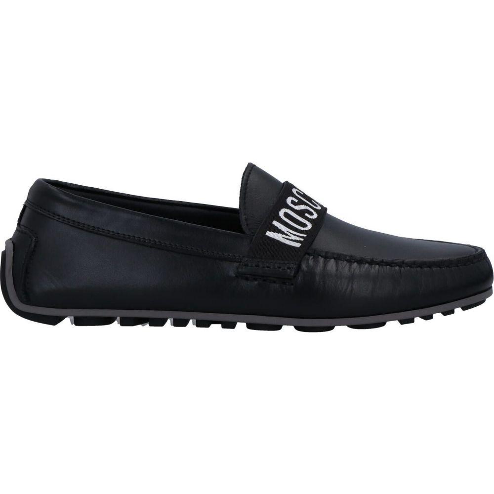 有名な高級ブランド モスキーノ MOSCHINO メンズ ローファー シューズ・靴【loafers】Black, メンズコスメのザス d0a026a4