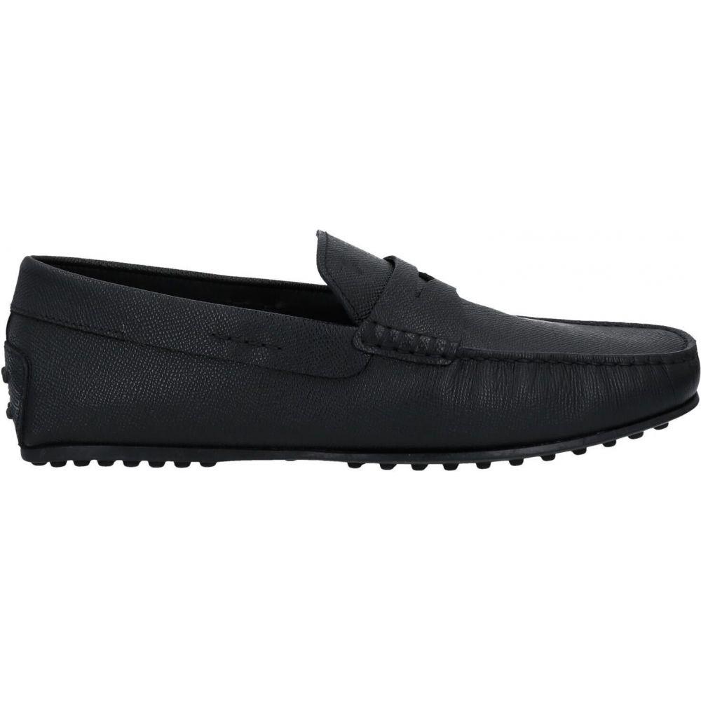 新色 トッズ 信頼 メンズ シューズ 靴 ローファー サイズ交換無料 TOD'S Black loafers