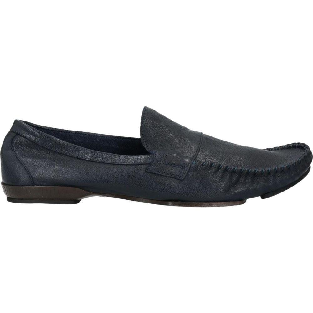 オフィチーネ クリエイティブ メンズ 安値 シューズ 靴 激安特価品 ローファー Dark ITALIA blue OFFICINE サイズ交換無料 loafers CREATIVE