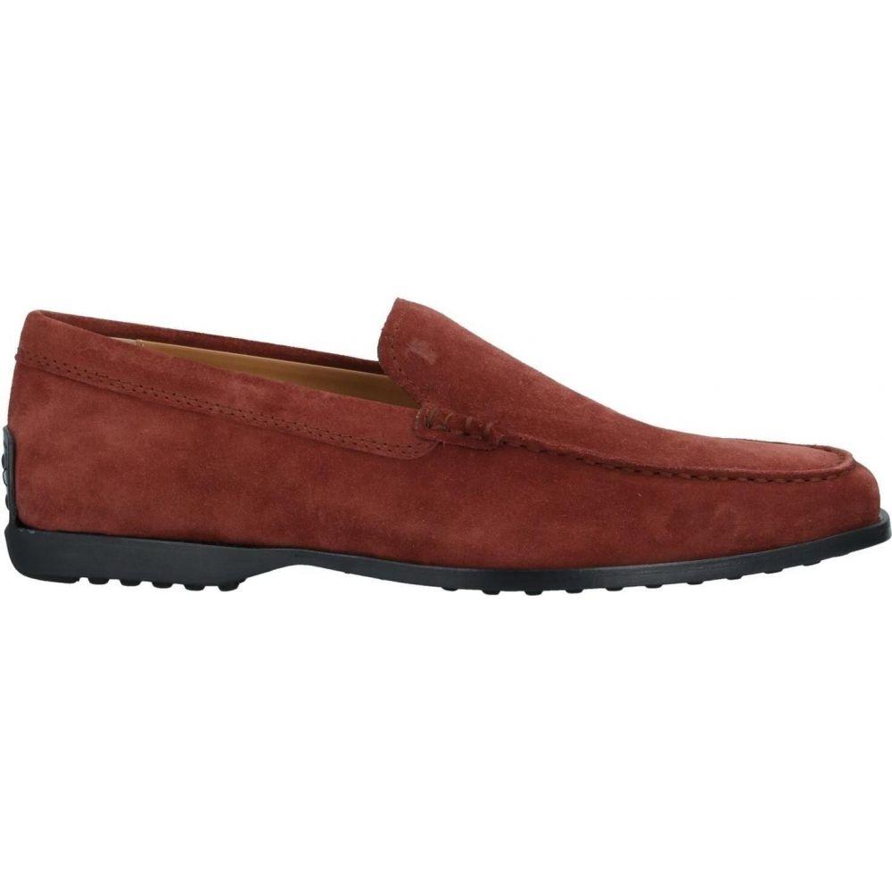 トッズ メンズ シューズ 靴 ローファー loafers キャンペーンもお見逃しなく 最安値 サイズ交換無料 red Brick TOD'S
